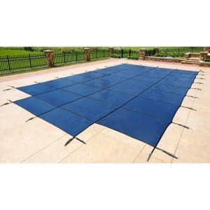 18 ft. x 36 ft. Rectangular Blue In-Ground Safety Pool Cover with 4 ft. x 8 ft. Center Step