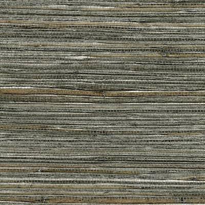 Fujian Silver Grasscloth Silver Wallpaper Sample