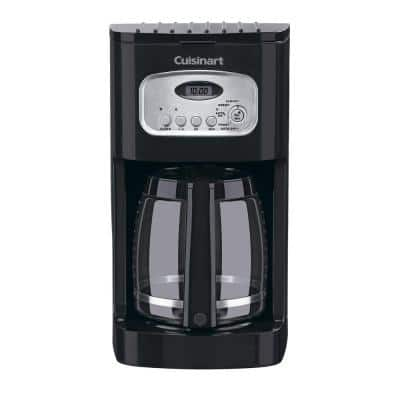 12-Cup Programmable Black Drip Coffee Maker with Carafe