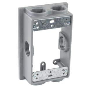 3/4 in. Gray 1-Gang 6-Holes Weatherproof Extension Ring