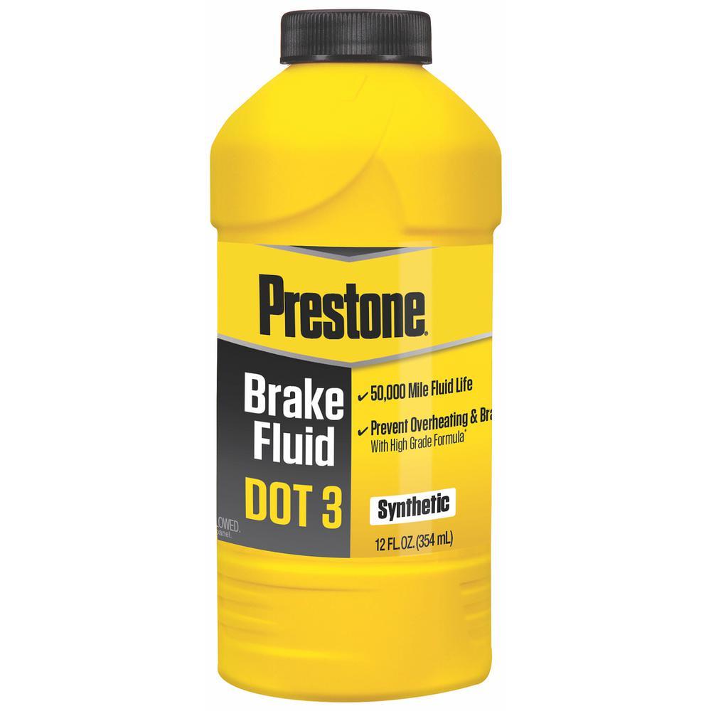 DOT 3 Brake Fluid - 12 fl. oz. - Synthetic, High Grade, 50,000 Mile
