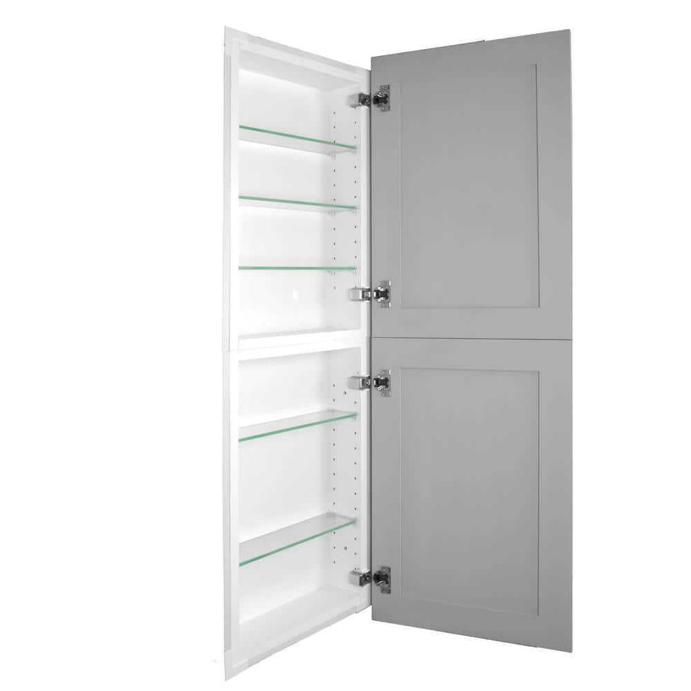 Silverton 14 In X 50 In X 4 In Frameless Recessed Medicine Cabinet Pantry Fr 250 Primed Door The Home Depot