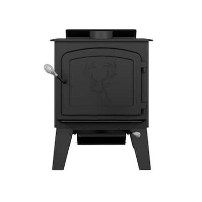 Black Stag II 2,300 sq. ft. Wood Stove on Legs EPA Certified