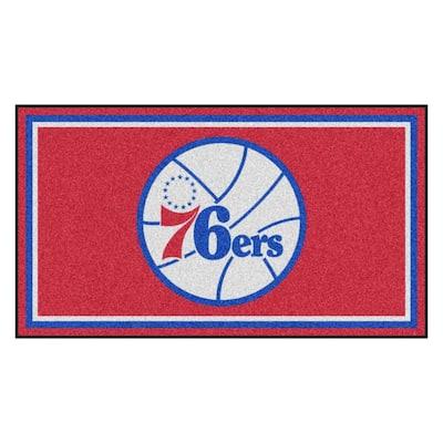 NBA - Philadelphia 76ers 3 ft. x 5 ft. Ultra Plush Area Rug
