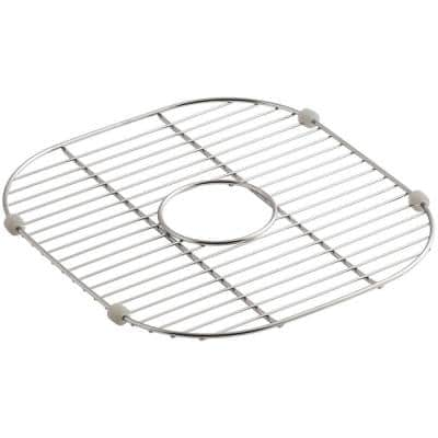 Undertone 13-1/2 in. x 14-7/8 in. Sink Bowl Rack in Stainless Steel