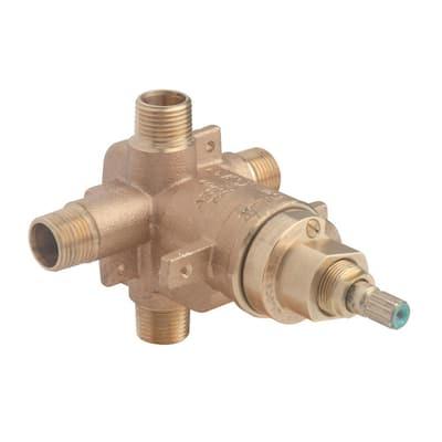 Temptrol Brass Pressure-Balancing Tub and Shower Valve