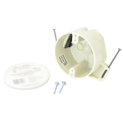 4 in. Dia 22-1/2 cu. in. New Work Fan Rated Round Outlet Box