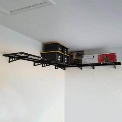 24 in. x 48 in. Steel Corner Garage Wall Shelving in Black (2-Pack)