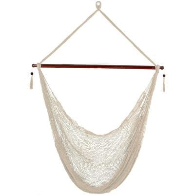 Hanging Cabo 6 ft. X-Large Hammock Chair in Cream