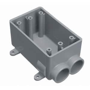 18 cu. in. Type-FSC Gray PVC Electrical Box for 3/4 in. Conduit
