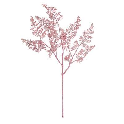 31 in. Pink Glitter Fern Artificial Christmas Spray