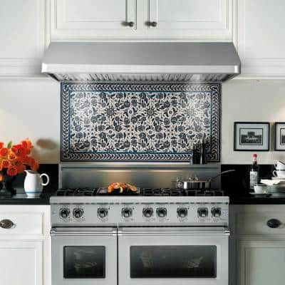 48 in. Convertible Under Cabinet Range Hood in Stainless Steel with Push Button Control, LED Light and Permanent Filters