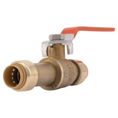 1/2 in. Push-to-Connect Brass Slip Ball Valve