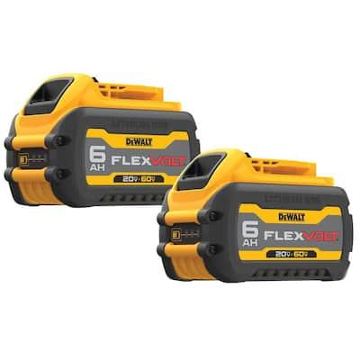 FLEXVOLT 20-Volt/60-Volt MAX Lithium-Ion 6.0 Ah Battery Pack (2-Pack)