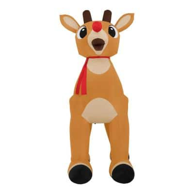 14 ft Pre-Lit LED Airblown Standing Rudolph with Scarf Christmas Inflatable