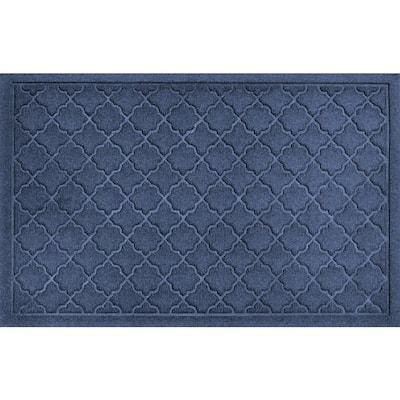 Cordova Navy 23 in. x 35 in. PET Polyester Doormat