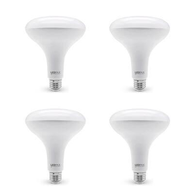 85-Watt Equivalent BR40 Dimmable LED Light Bulb (4-Pack)