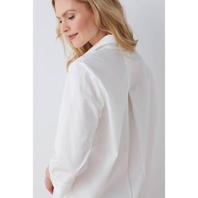 Solid Poplin Cotton Women's Nightshirt