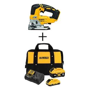 20-Volt MAX XR Cordless Brushless Jigsaw with (1) 20-Volt Battery 6.0Ah, (1) 20-Volt Battery 4.0Ah & Charger