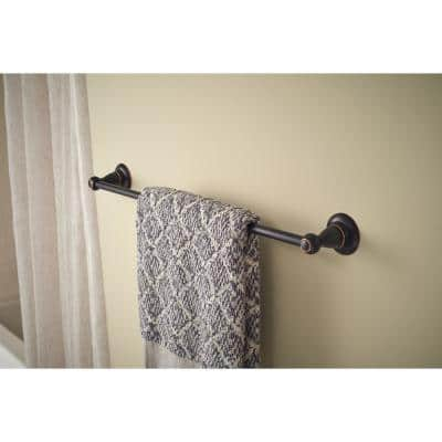 Porter 3-Piece Bath Hardware Set with Towel Ring Toilet Paper Holder and 24 in. Towel Bar in Oil Rubbed Bronze