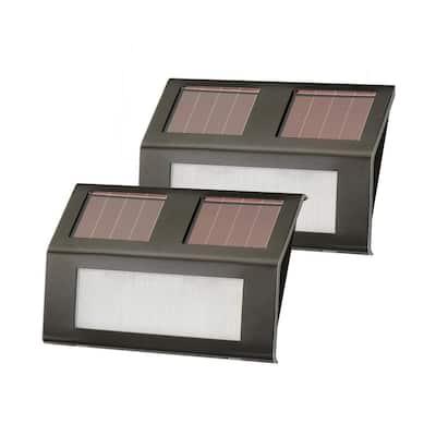 Bronze Solar-Powered Step Lights (2-Pack)
