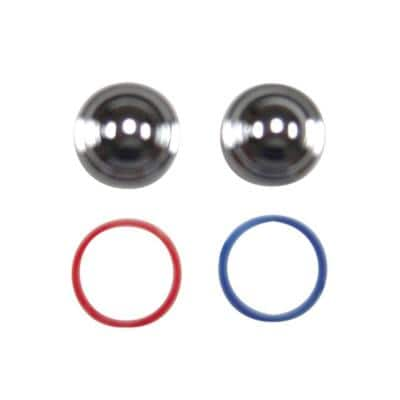 Index Buttons with Hot and Cold Index Rings in Polished Chrome