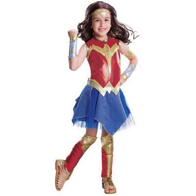 Justice League Large Girls Wonder Woman Deluxe Kids Halloween Costume