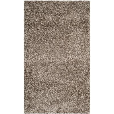 Milan Shag Gray 3 ft. x 5 ft. Solid Area Rug