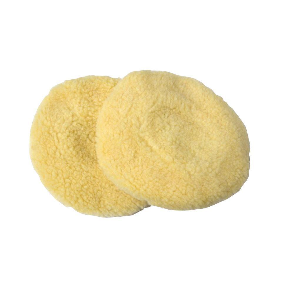 7 in. Wool Polishing Bonnets (2-Pack)