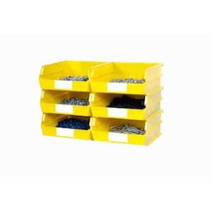 15 in. H x 22 in. W x 11 in. D Yellow Plastic 6-Cube Storage Organizer