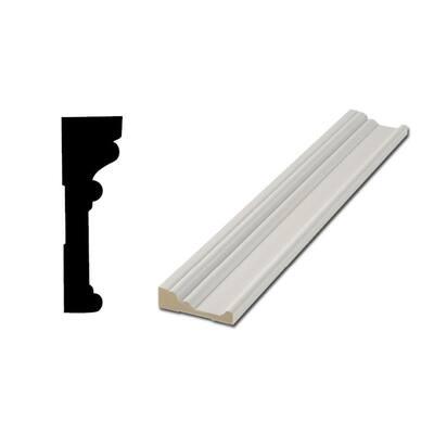 RB03 1-1/6 in. x 3-1/2 in. MDF Door and Window Casing Moulding