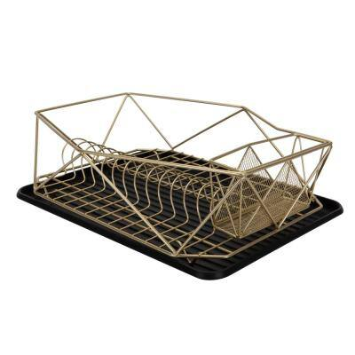 Geode in Satin Gold Dish Rack