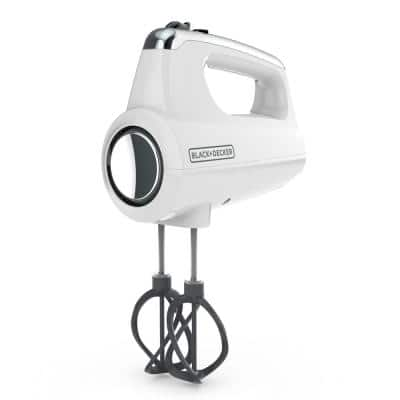 Helix Performance Premium 5-Speed Mixer White Hand Mixer