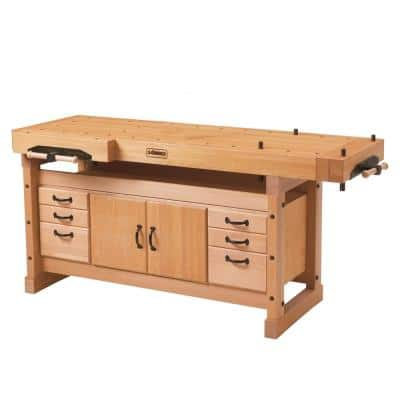 Elite 6 ft. x 3 in. Workbench and SM04 Storage Cabinet Combo Kit