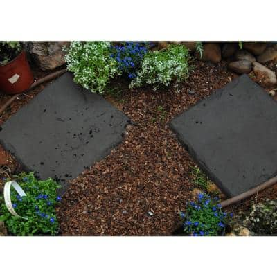 Lawn Stepping Stones in Charcoal (4-Pack)