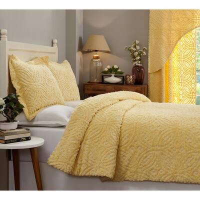 Tufted Unique Luxurious Soft Plush Chenille Comforter