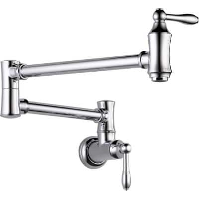 Traditional Wall-Mounted Potfiller in Chrome