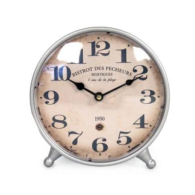 Blue Vintage Distressed Face Table Clock