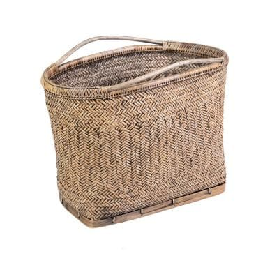 East At Main Audrey 16 In Antique Brown Abaca Basket Tt Ac 70817 The Home Depot