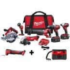 M18 18-Volt Lithium-Ion Cordless Combo Tool Kit (6-Tool) w/ Wet/Dry Vacuum and Oscillating Multi-Tool