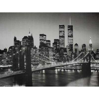 "23.5 in. x 31.5 in. ""Brooklyn Bridge "" Wall Art"