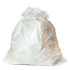 12-16 Gal. White Trash Bags (Case of 250)