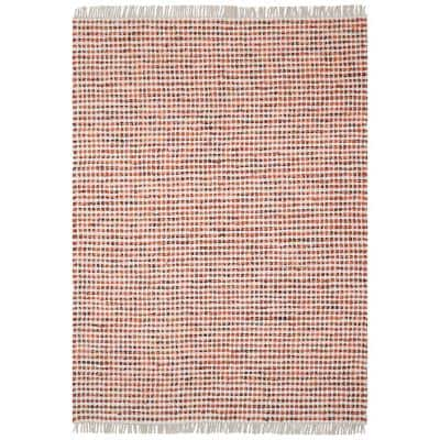 Orange Dots Cotton 2 ft. 6 in. x 4 ft. 2 in. Accent Rug