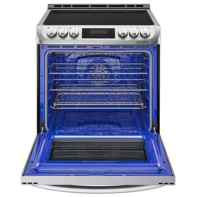 6.3 cu. ft. Smart Slide-In Electric Range with ProBake Convection, Induction, Self-Clean Oven in Stainless Steel