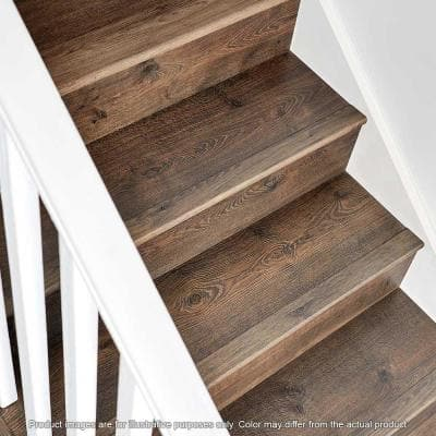 Java Scraped Oak .75 in. Thick x 2.36 in. Wide x 78.7 in. Length Laminate Stairnose Molding