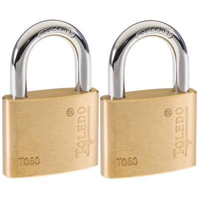 Brass Keyed Padlock (2-Pack)
