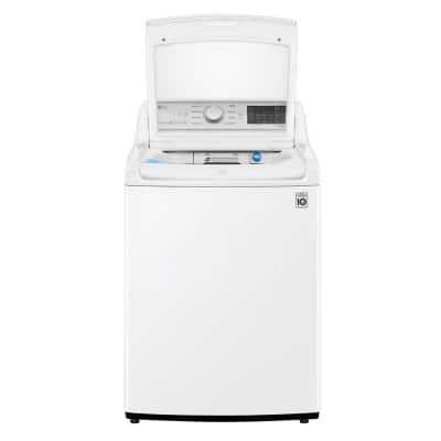 27 in. 4.8 cu. ft. Mega Capacity White Top Load Washer, Agitator, with TurboWash3D and Wi-Fi Connectivity