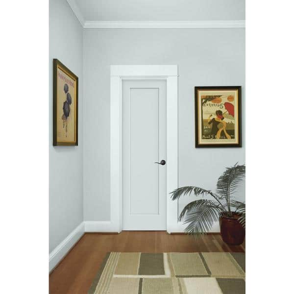 Jeld Wen 24 In X 80 In Madison Light Gray Painted Smooth Solid Core Molded Composite Mdf Interior Door Slab Thdjw191200782 The Home Depot