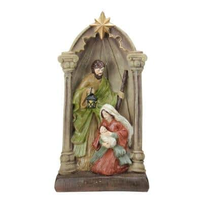 14.5 in. Holy Family and Angel Figures Christmas Nativity Statue Decor