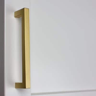 5 in. Satin Gold Solid Slim Square Cabinet Bar Drawer Pulls (10-Pack)